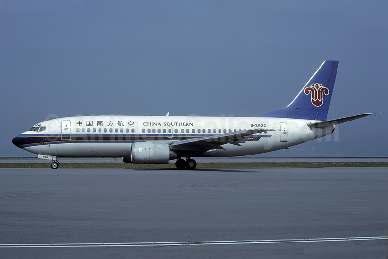 China Southern Airlines Boeing 737-3Q8 B-2920 (msn 27271) HKG (Rolf Wallner). Image: 938557.