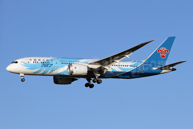 China Southern Airlines Boeing 787-8 Dreamliner B-2787 (msn 34931) LHR (Keith Burton). Image: 928779.