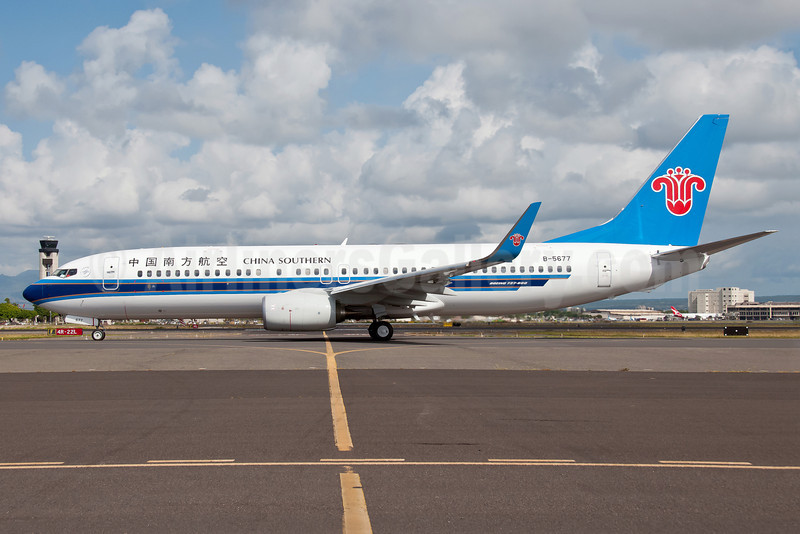 China Southern Airlines Boeing 737-81B WL B-5677 (msn 38928) HNL (Ivan K. Nishimura). Image: 913524.