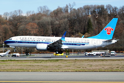 China Southern Airlines Boeing 737-8 MAX 8 B-1238 (msn 63258) BFI (Joe G. Walker). Image: 941344.