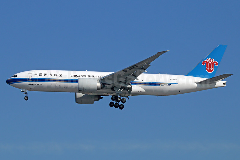 China Southern Airlines Cargo Boeing 777-F1B B-2042 (msn 41633) LAX (Michael B. Ing). Image: 938566.