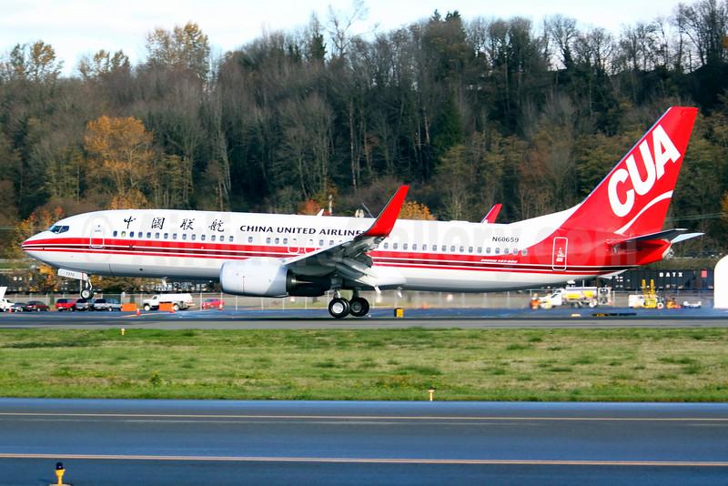China United Airlines-CUA Boeing 737-89P WL N60659 (B-7370) (msn 61313) BFI (Joe G. Walker). Image: 930618.