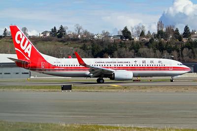 China United Airlines-CUA Boeing 737-800 WL B-1281 (msn 63054) BFI (Joe G. Walker). Image: 941330.