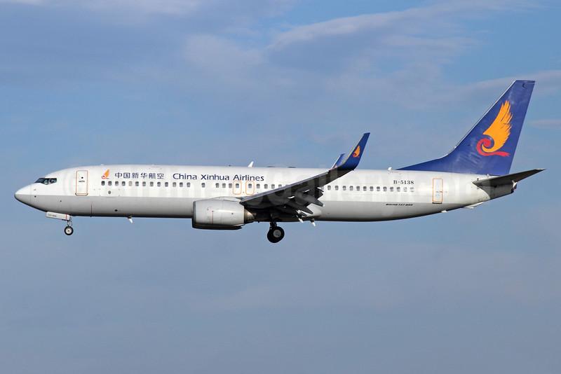 China Xinhua Airlines Boeing 737-84P WL B-5138 (msn 32607) PEK (Michael B. Ing). Image: 920292.