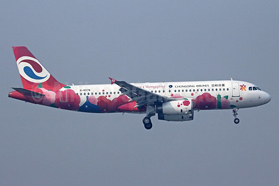 Chongqing Airlines Airbus A320-232 B-6576 (msn 3941) (Happy Chongqing) PEK (Michael B. Ing). Image: 910841.