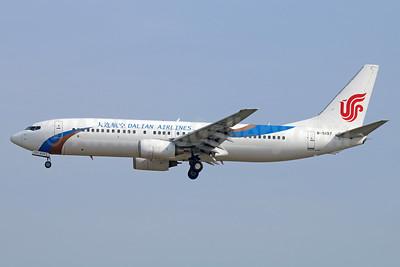 Dalian Airlines Boeing 737-86N B-5197 (msn 36811) PEK (Michael B. Ing). Image: 939352.