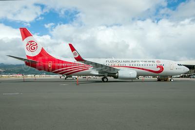 Fuzhou Airlines Boeing 737-84P WL B-7105 (msn 61321) HNL (Ivan K. Nishimura). Image: 929719.