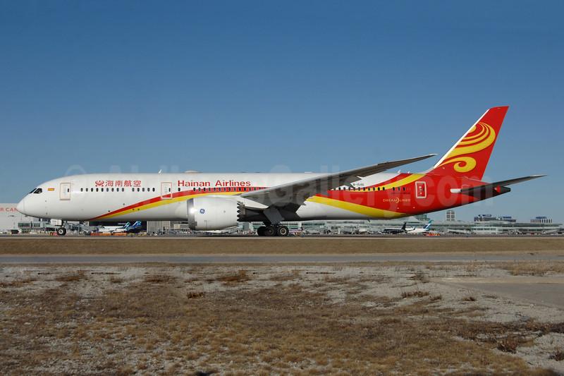 Hainan Airlines Boeing 787-9 Dreamliner B-1546 (msn 62717) YYZ (TMK Photography). Image: 941299.