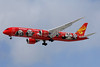 "The red ""Kung Fu Panda"" Boeing 787-9 Dreamliner (second in a series)"