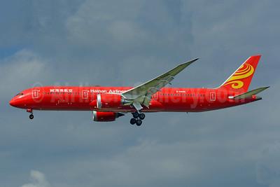 Hainan Airlines Boeing 787-9 Dreamliner B-6998 (msn 62718) (red) LHR (Richard Vandervord). Image: 952511.