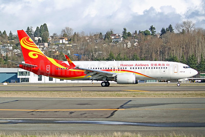 Hainan Airlines Boeing 737-8 MAX 8 B-1388 (msn 62199) BFI (Joe G. Walker). Image: 941304.