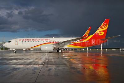 Hainan Airlines Boeing 737-86J WL D-ABMJ (B-1903) (msn 36872) MUC (Arnd Wolf). Image: 937037.
