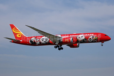 """The red """"Kung Fu Panda"""" Boeing 787-9 Dreamliner (second in a series)"""