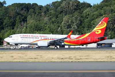 Hainan Airlines Boeing 737-8 MAX 8 B-1100 (msn 62179) BFI (Joe G. Walker). Image: 942815.