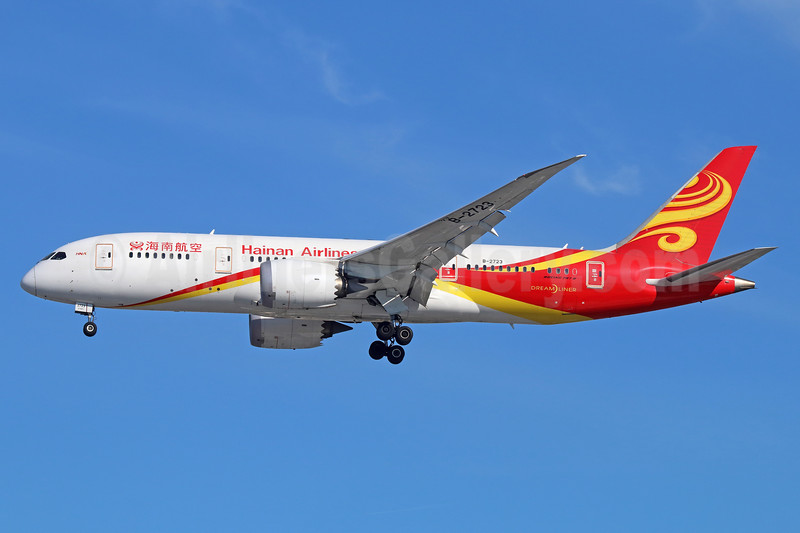 Hainan Airlines Boeing 787-8 Dreamliner B-2723 (msn 34944) LAX (Michael B. Ing). Image: 937167.