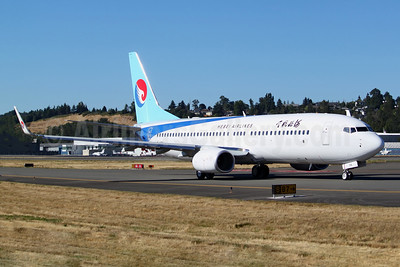 Hebei Airlines Boeing 737-800 WL B-1158 (msn 42979) BFI (Joe G. Walker). Image: 942817.