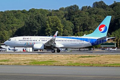 Hebei Airlines Boeing 737-800 WL B-1328 (msn 42966) BFI (Joe G. Walker). Image: 942816.