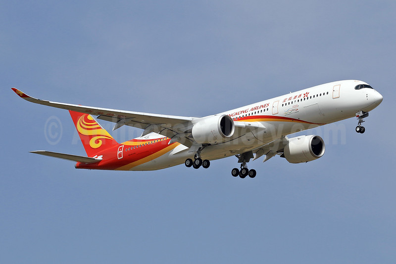 The first A350-900 for Hong Kong Airlines