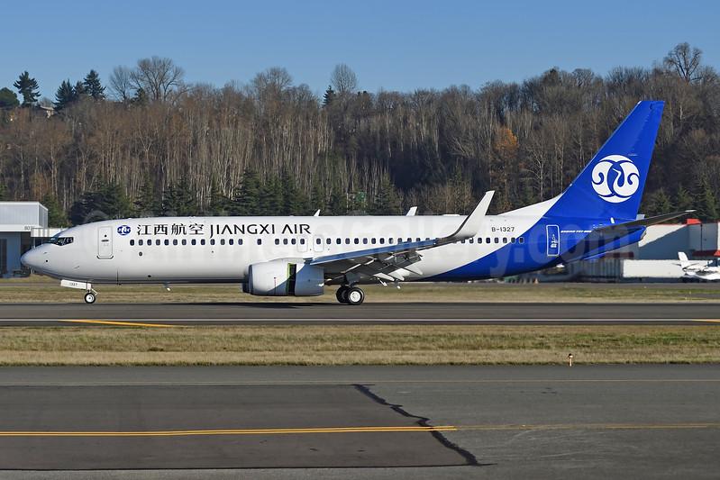Jiangxi Air Boeing 737-800 WL B-1327 (msn 63685) BFI (Steve Bailey). Image: 940221.