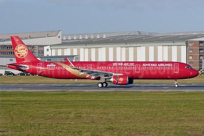 Juneyao Airlines Airbus A321-211 WL D-AVZU (B-1808) (msn 5876) XFW (Gerd Beilfuss). Image: 921053.