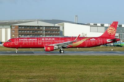 Juneyao Airlines Airbus A321-211 WL D-AVZU (B-1808) (msn 5876) XFW (Gerd Beilfuss). Image: 921054.