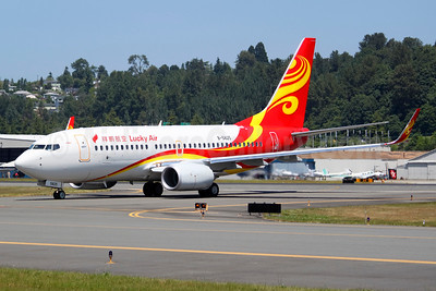 Lucky Air Boeing 737-74P WL B-5825 (msn 39212) BFI (Joe G. Walker). Image: 934839.
