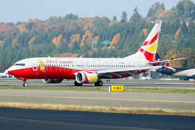 First MAX 8 for Lucky Air, delivered on October 31, 2018