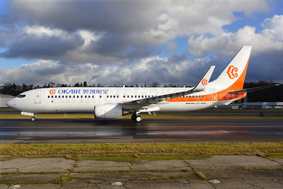 OKAir (Okay Airways Company) Boeing 737-8H0 WL B-5562 (msn 37934) BFI (Rick Schlamp). Image: 905794.