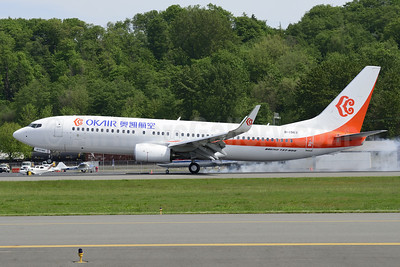 OKAir (Okay Airways Company) Boeing 737-86N WL B-1963 (msn 41249) BFI (Steve Bailey). Image: 922779.