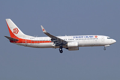 OKAir (Okay Airways Company) Boeing 737-8AS WL B-5577 (msn 33557) TSN (Michael B. Ing). Image: 939397.