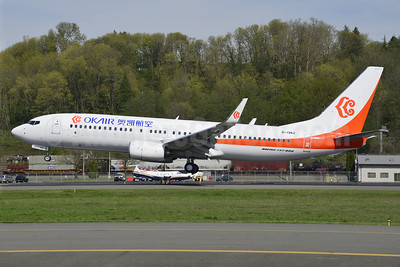 OKAir (Okay Airways Company) Boeing 737-86N WL B-1962 (msn 41248) BFI (Steve Bailey). Image: 922778.