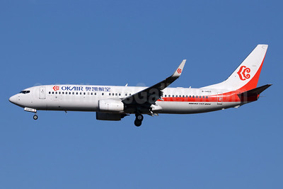 OKAir (Okay Airways Company) Boeing 737-800 WL B-1450 (msn 61405) TSN (Michael B. Ing). Image: 947994.