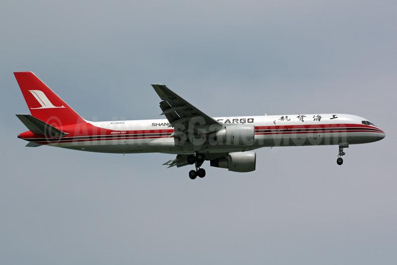 Shanghai Airlines Cargo Boeing 757-26D (F) B-2809 (msn 24472) SIN (Michael B. Ing). Image: 901041.