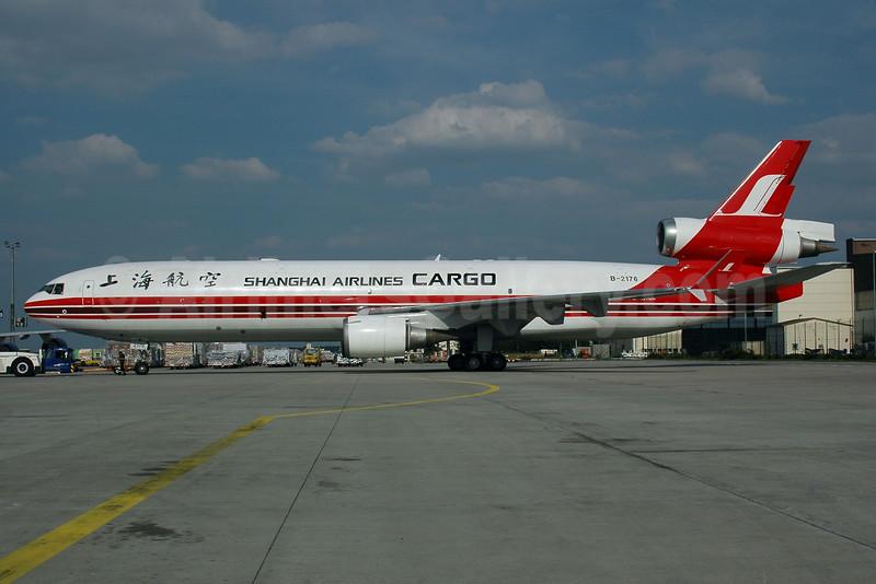 Shanghai Airlines Cargo McDonnell Douglas MD-11F B-2176 (msn 48415) FRA (Bernhard Ross). Image: 924986.