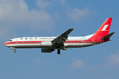 Shanghai Airlines Boeing 737-8Q8 WL B-5140 (msn 34698) SHA (Yuji Wang). Image: 911929.