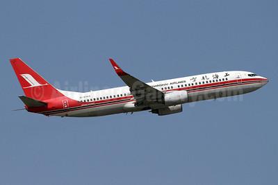 Shanghai Airlines Boeing 737-86N WL B-5143 (msn 32691) BKK (Keith Burton). Image: 922756.