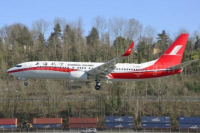 Shanghai Airlines Boeing 737-86D WL B-1948 (msn 39307) BFI (Steve Bailey). Image: 922755.