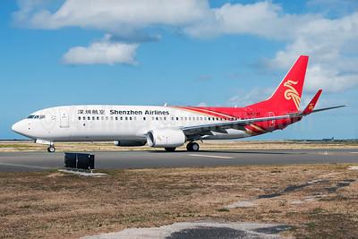 Shenzhen Airlines Boeing 737-87L WL B-5737 (msn 39133) HNL (Ivan K. Nishimura). Image: 927293.