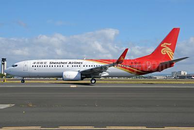 Shenzhen Airlines Boeing 737-87L WL B-5607 (msn 39144) HNL (Ivan K. Nishimura). Image: 906548.