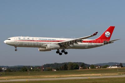 Sichuan Airlines Airbus A330-343 B-5945 (msn 1528) ZRH (Andi Hiltl). Image: 943616.