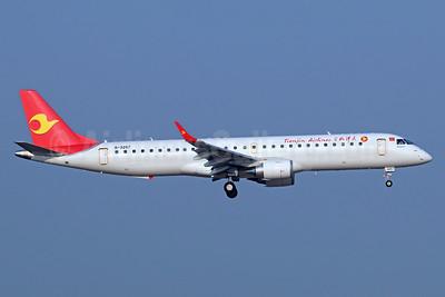 Tianjin Airlines Embraer ERJ 190-200LR (ERJ 195) B-3257 (msn 19000717) TSN (Michael B. Ing). Image: 939395.