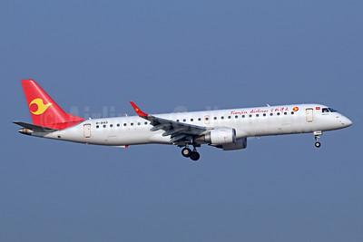 Tianjin Airlines Embraer ERJ 190-200LR (ERJ 195) B-3143 (msn 19000717) TSN (Michael B. Ing). Image: 939392.