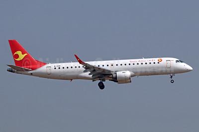 Tianjin Airlines Embraer ERJ 190-100LR B-3191 (msn 19000527) TSN (Michael B. Ing). Image: 939393.