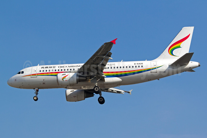 Tibet Airlines Airbus A319-115 B-6426 (msn 5256) SHA (Yuji Wang). Image: 910806.