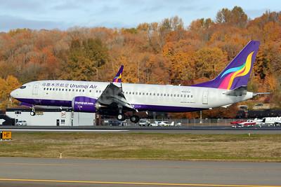 Urumqi Air Boeing 737-8 MAX 8 N5515X (msn 44309) BFI (Joe G. Walker). Image: 952454.