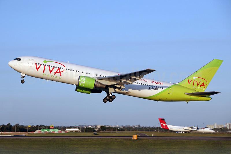 Viva Macau Boeing 767-38E B-MAW (msn 24798) SYD (John Adlard). Image: 902835.
