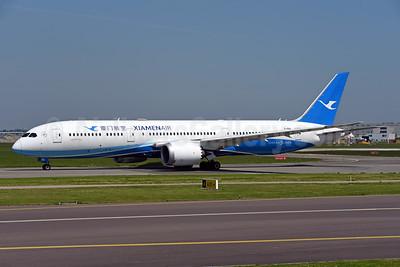 Xiamen Air Boeing 787-9 Dreamliner B-1566 (msn 63040) AMS (Ton Jochems). Image: 942203.