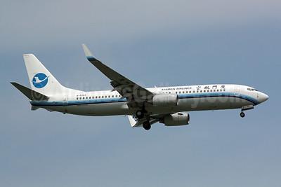 Xiamen Airlines Boeing 737-86N WL B-5383 (msn 35631) SIN (Michael B. Ing). Image: 901118.