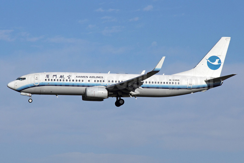 Xiamen Airlines Boeing 737-85C WL B-5308 (msn 32687) PEK (Michael B. Ing). Image: 913290.