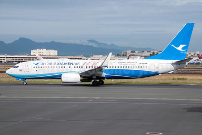 Xiamen Air Boeing 737-85C WL B-5688 (msn 41792) (100th Boeing Aircraft for Xiamen Airlines) HNL (Ivan K. Nishimura). Image: 921072.